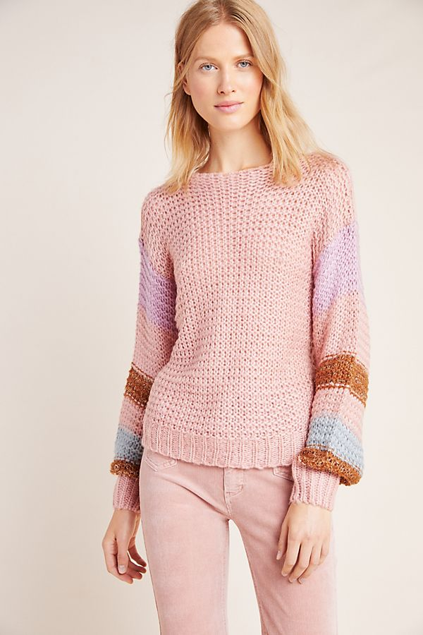 Slide View: 4: Mae Striped Pullover