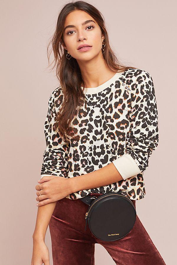 71cadad73b66 MOTHER The Square Leopard Sweatshirt | Anthropologie