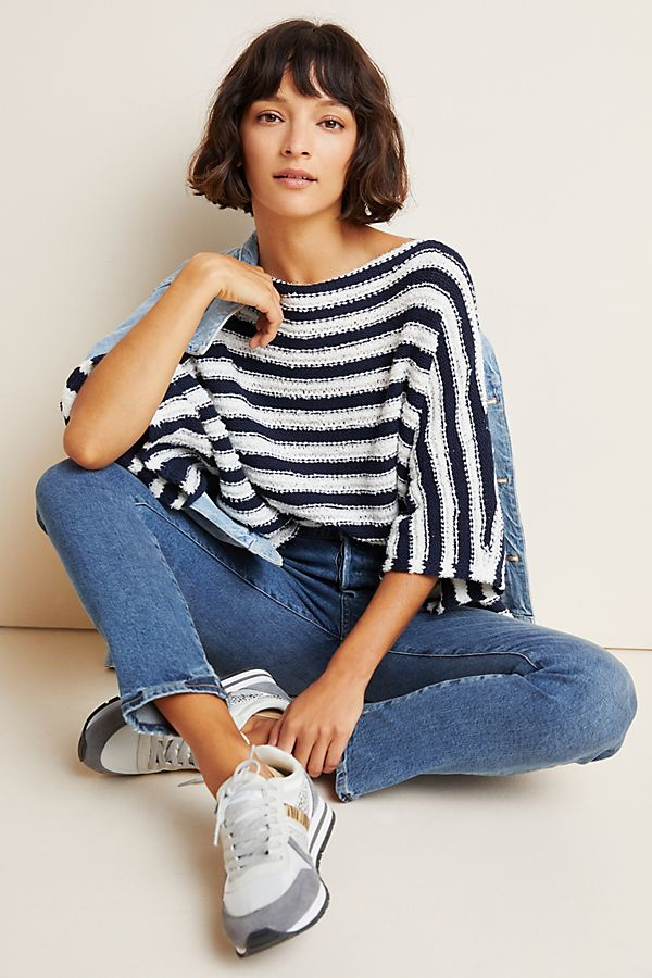Slide View: 1: Evie Poncho Sweater