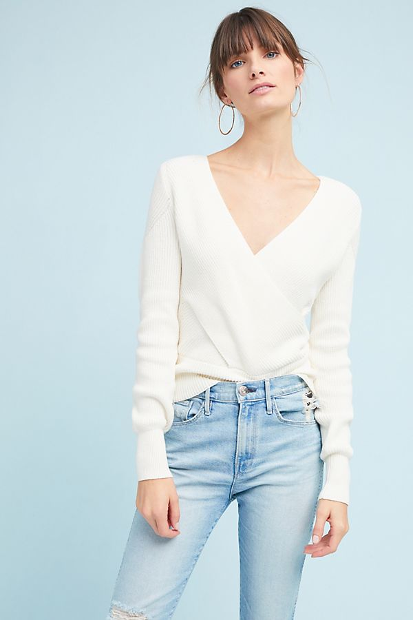 83d6cec2fc2ed7 Wrapped V-Neck Sweater | Anthropologie