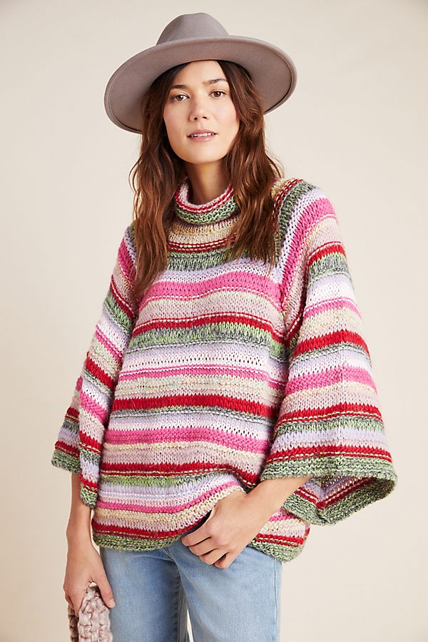 Slide View: 4: Candice Bell-Sleeved Sweater
