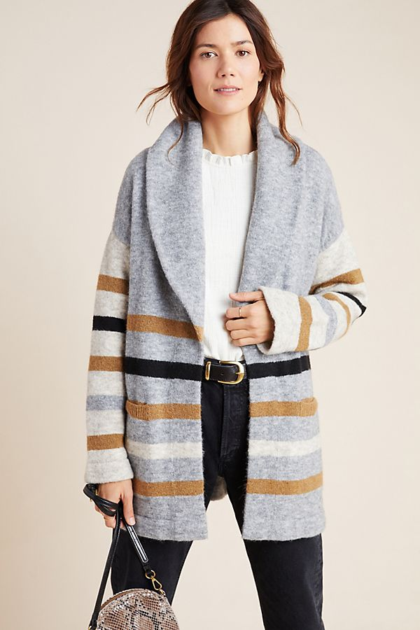 Slide View: 1: Vanja Striped Cardigan