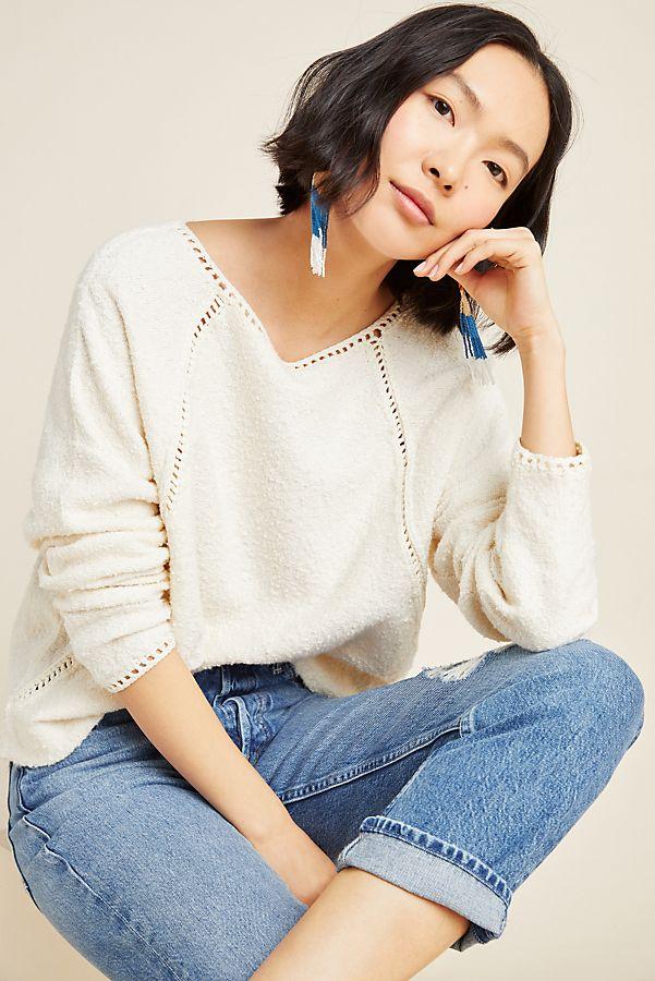 Slide View: 1: Valeria Textured Sweater