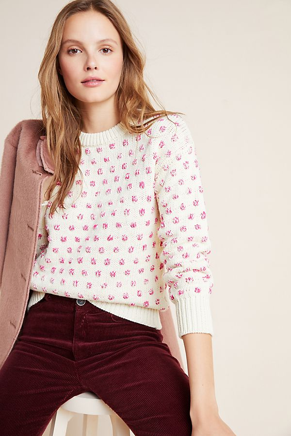 Slide View: 1: Meghan Pommed Sweater