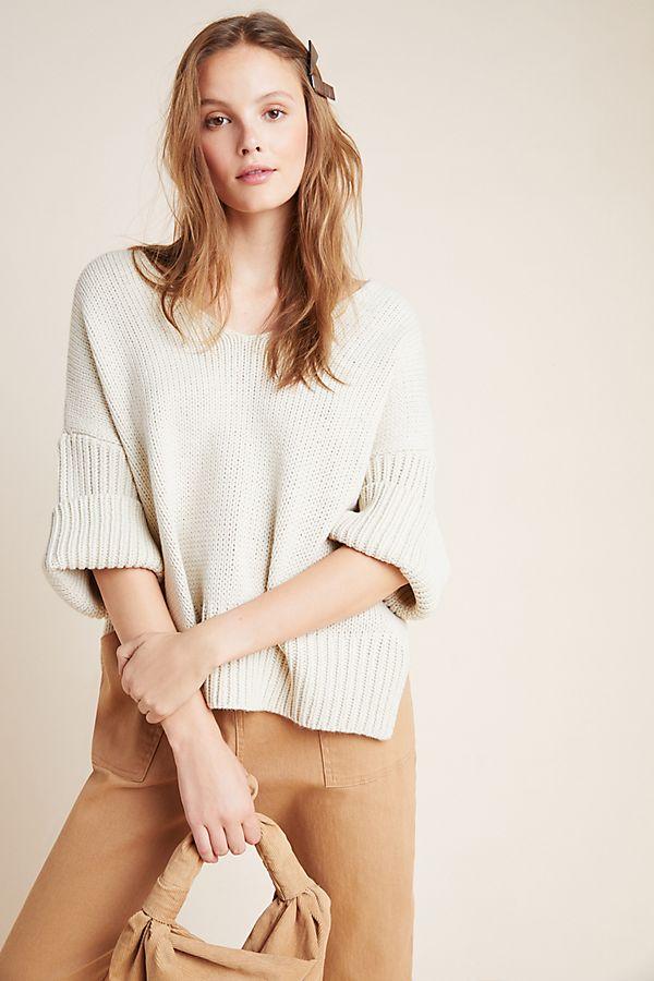 Slide View: 1: Avril V-Neck Sweater