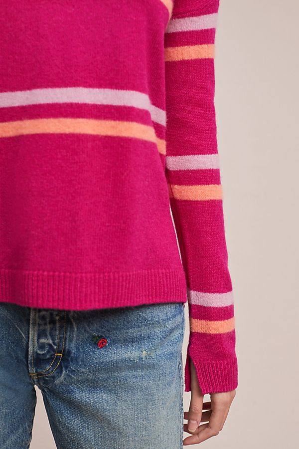 Slide View: 4: Melange Cashmere Sweater