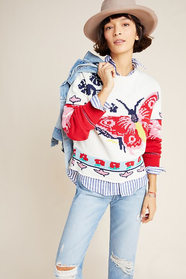Slide View: 1: Camila Butterfly Sweater