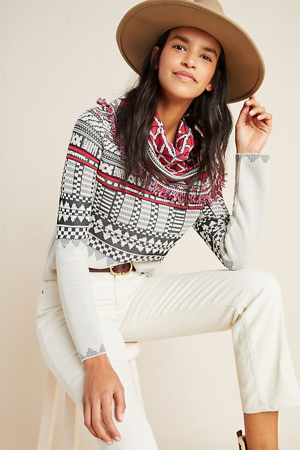 Slide View: 1: Benicia Fringed Sweater