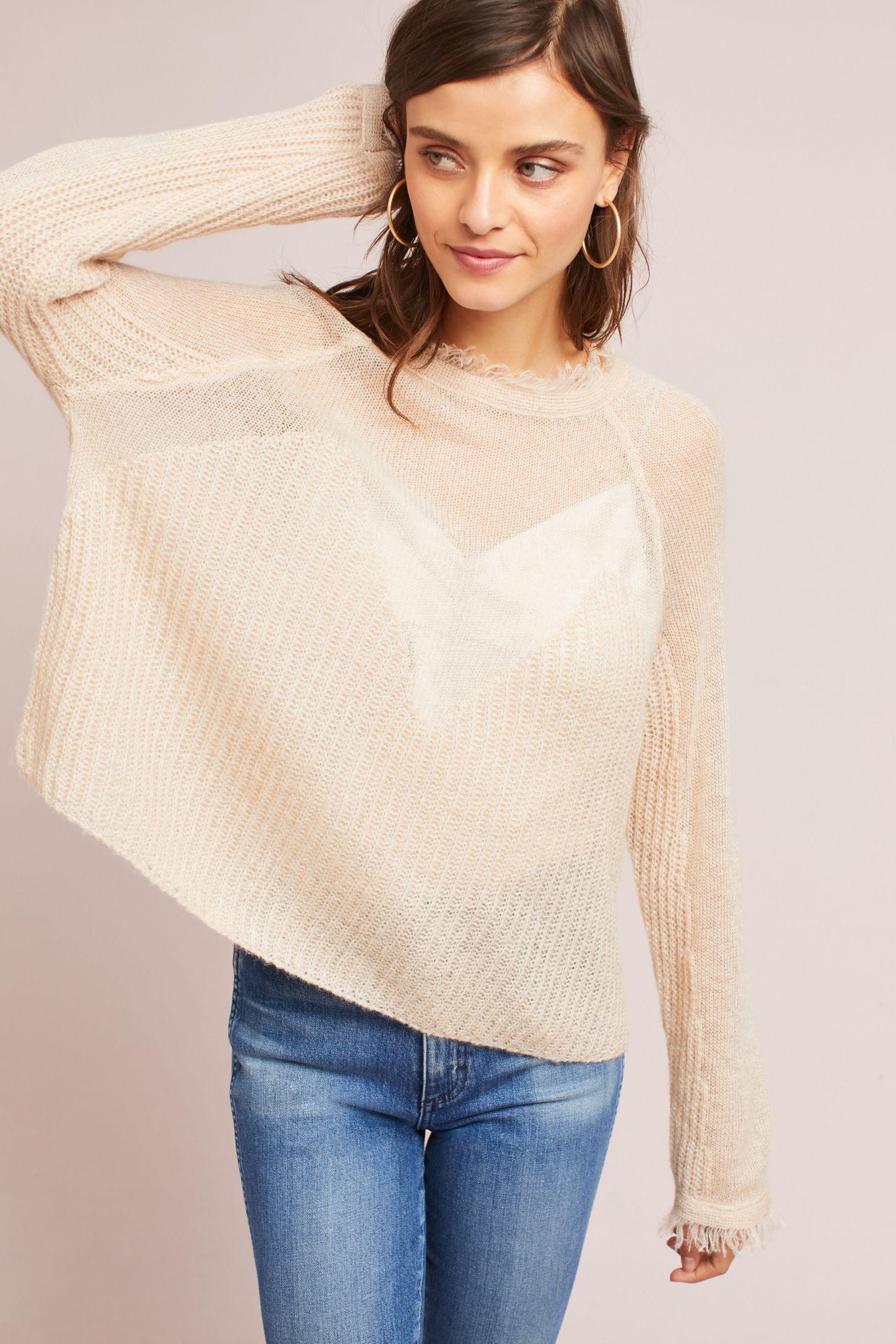 9981f310730d Sheer Raglan Sweater