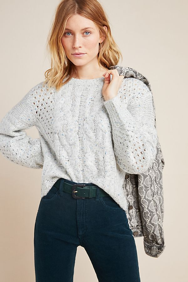 Slide View: 1: Rosita Cable-Knit Sweater