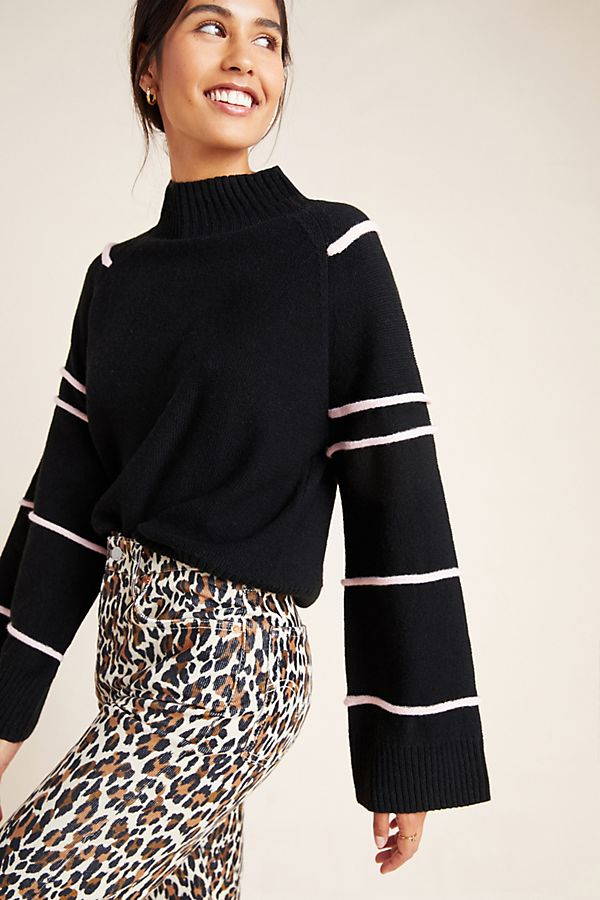 Slide View: 1: Taylor Bell-Sleeved Sweater