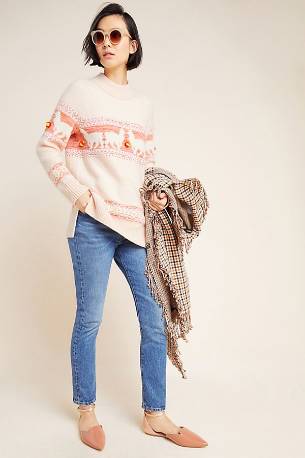 Slide View: 1: Aimee Pommed Alpaca Sweater