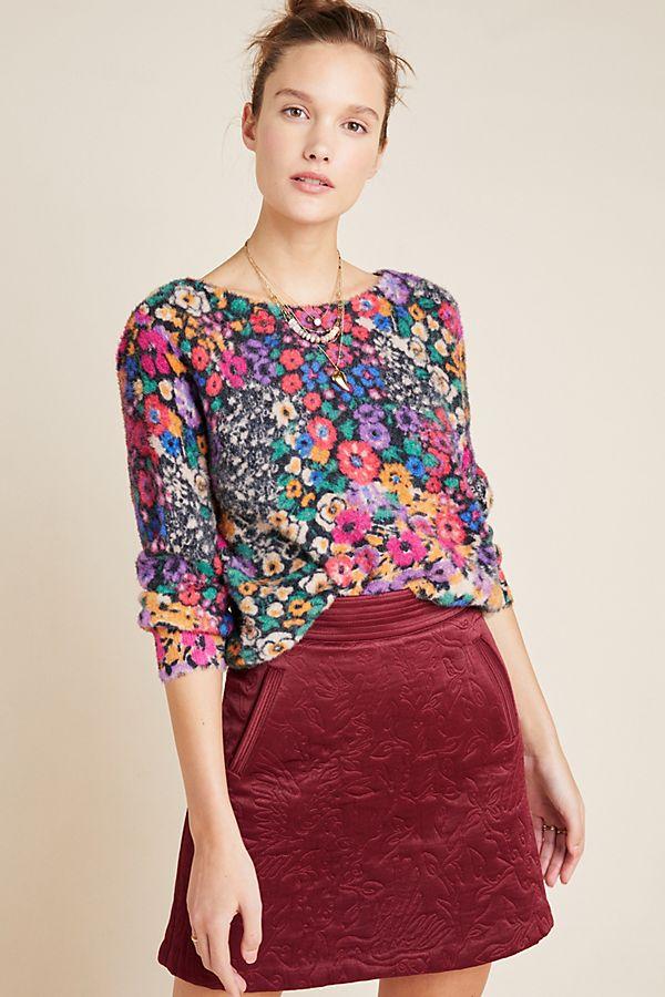 Slide View: 1: Bouquet Eyelash Sweater