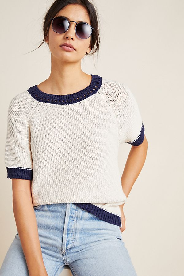 Scout Ringer Knit Tee by Anthropologie