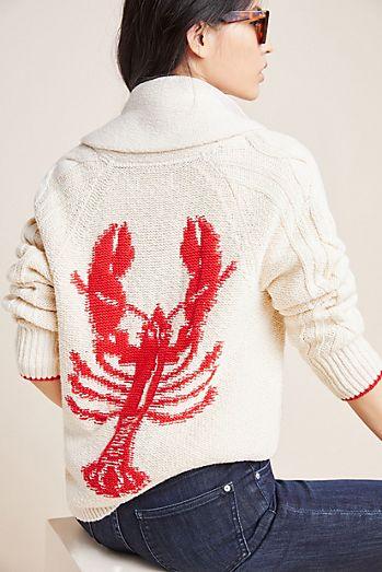 1b13c62c4dc Lobster Knit Cardigan