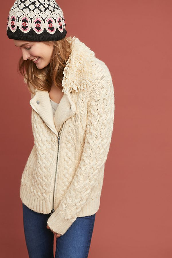 7a3d1d2ac Mixed-Yarn Sweater Jacket