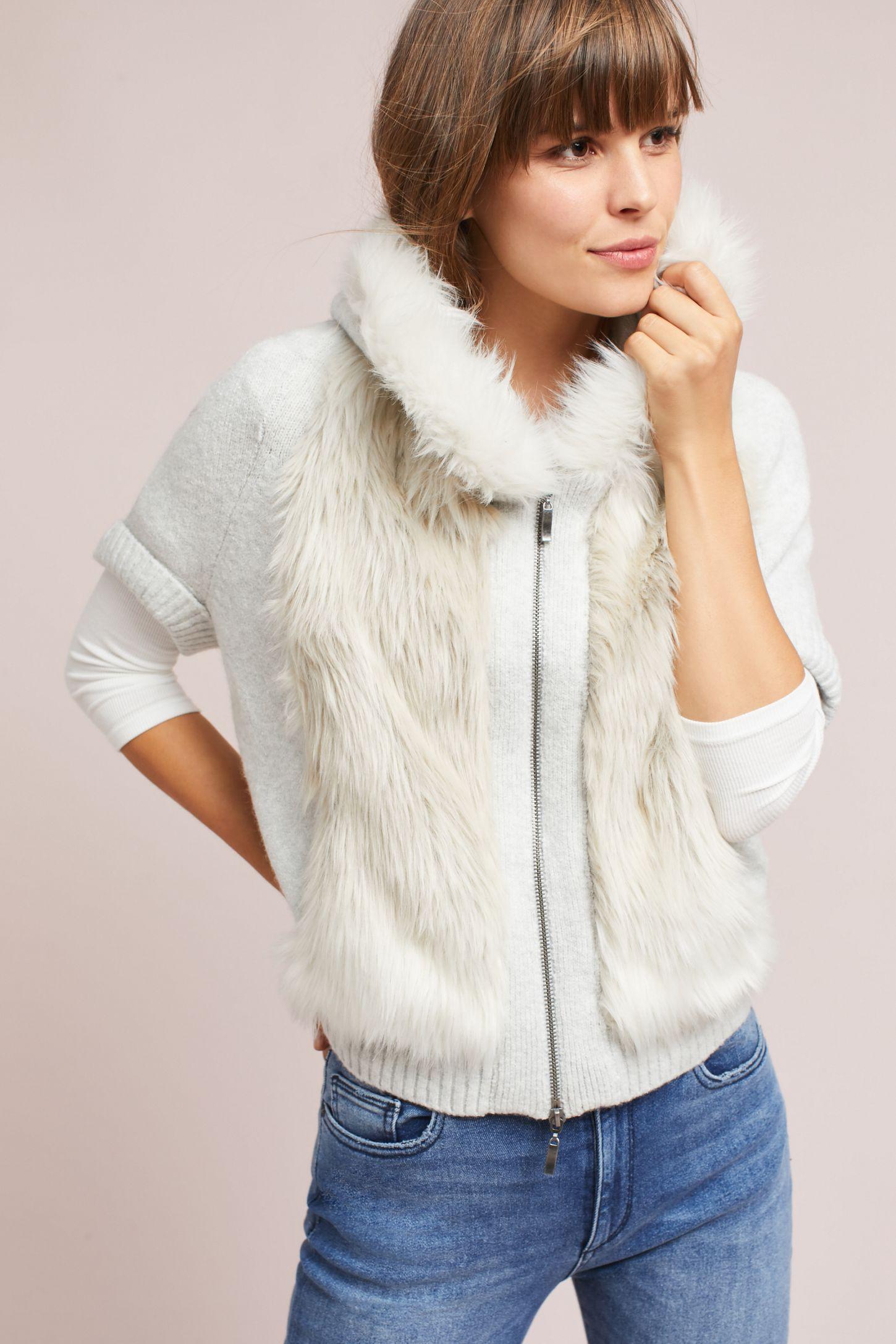 8cb4ba69b Hooded Faux Fur Sweater