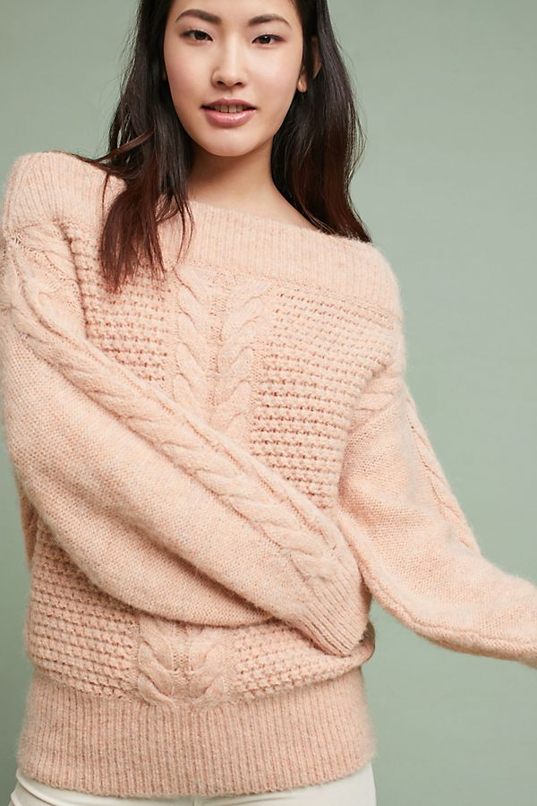 e1e0f6aed97 Off-The-Shoulder Cableknit Sweater | Anthropologie