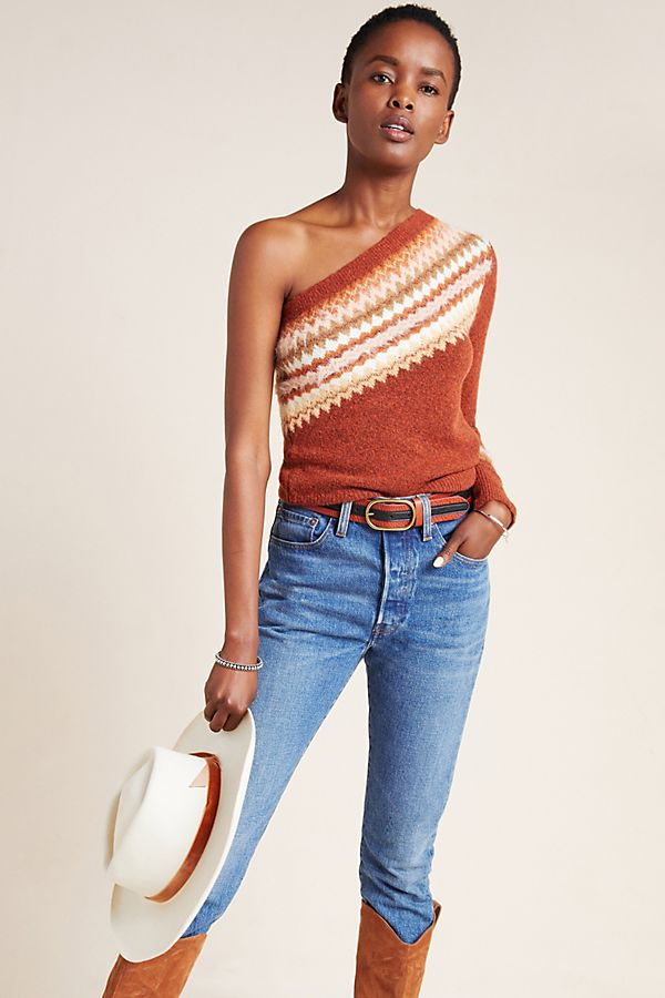 Slide View: 1: Vittoria One-Shoulder Sweater