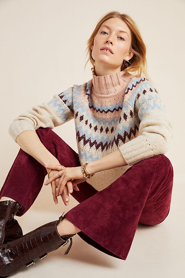 Slide View: 1: Donegal Mock Neck Sweater