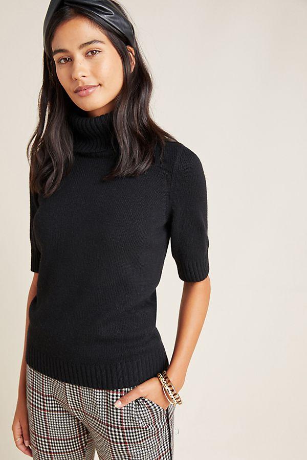 Slide View: 1: Kimberly Turtleneck Sweater Tee