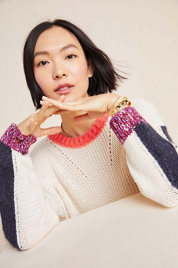 Slide View: 1: Elisabetta Colorblocked Sweater