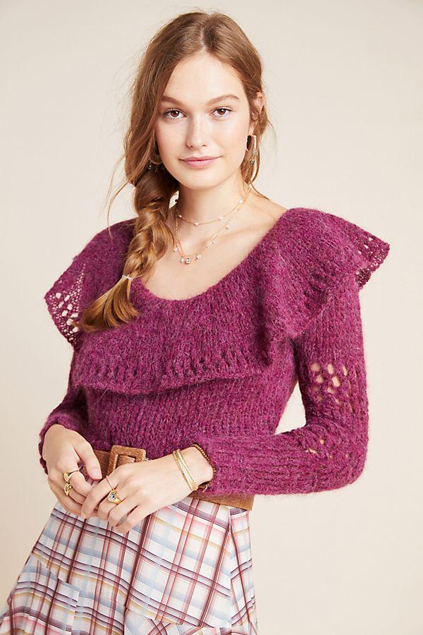 Slide View: 1: Gemma Ruffled Sweater