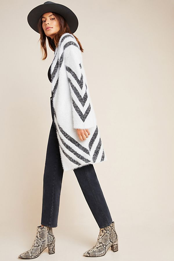 Slide View: 1: Valia Eyelash Cardigan