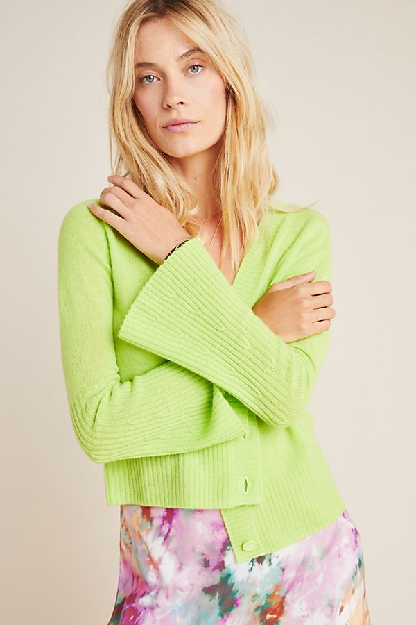 Slide View: 1: Neon Cashmere Cardigan