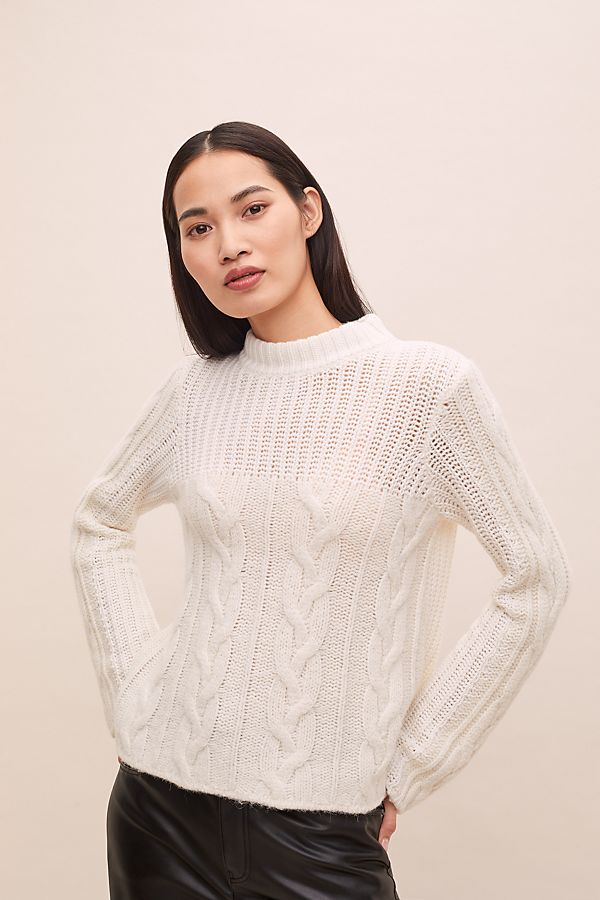 Slide View: 1: Arlene Cable-Knit Sweater