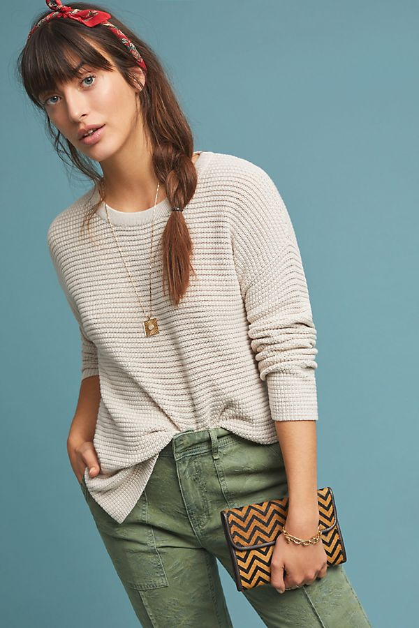 70d0e4a30fe25 Michael Stars Waffle Pullover | Anthropologie