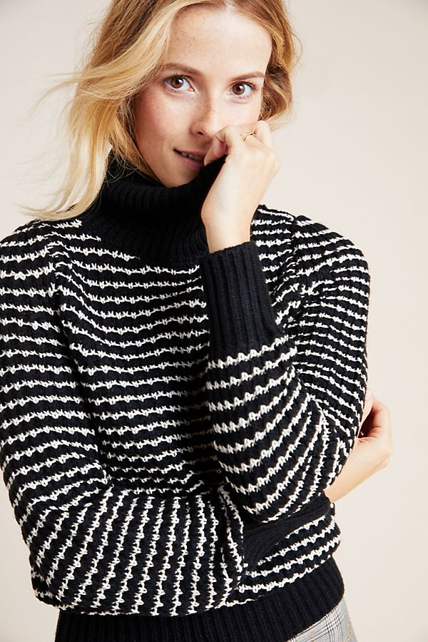 Slide View: 1: Michael Stars Textured Turtleneck Sweater