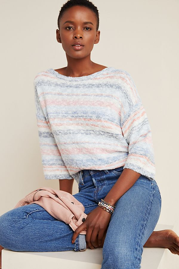 Slide View: 1: Michael Stars Textured Open-Back Sweater Top