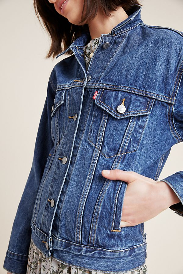 Slide View: 3: Levi's Ex-Boyfriend Denim Trucker Jacket