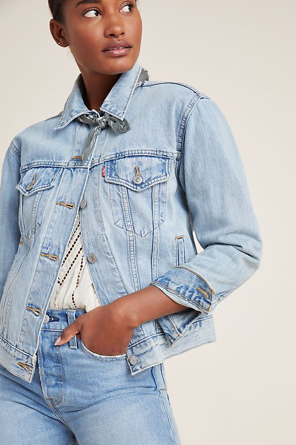 7a8eaa2c038 Slide View  1  Levi s Ex-Boyfriend Denim Trucker Jacket