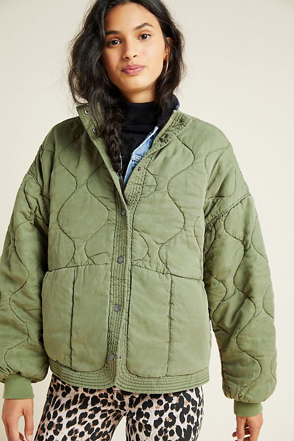Slide View: 3: Fonda Quilted Utility Jacket