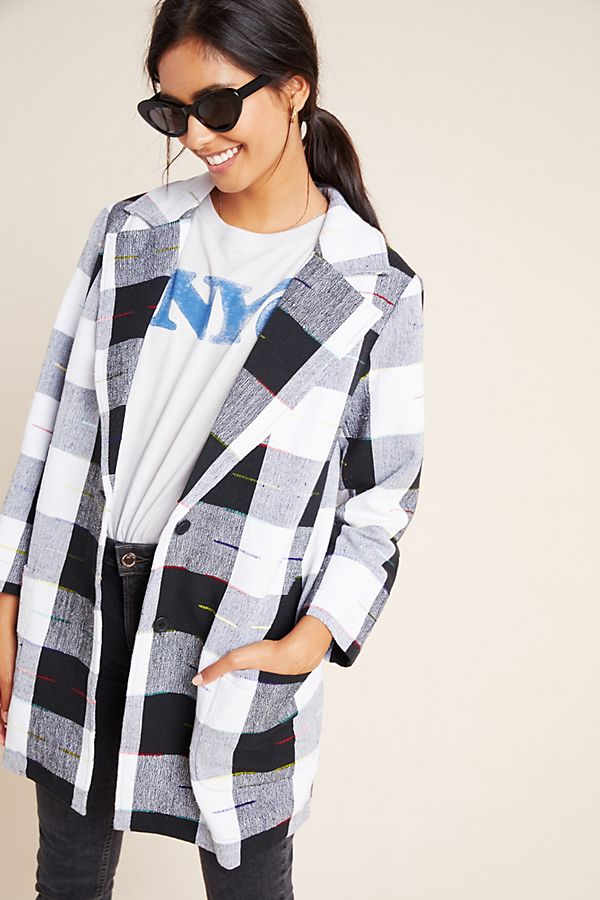 Slide View: 1: Cairo Plaid Coat