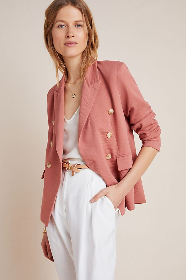 Slide View: 1: Thea Double-Breasted Blazer