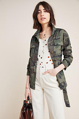 Slide View: 1: Marrakech Belted Camo Jacket