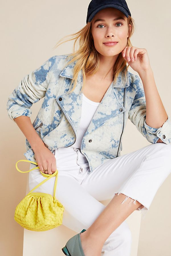 Slide View: 1: Marrakech Tie-Dyed Quilted Moto Jacket