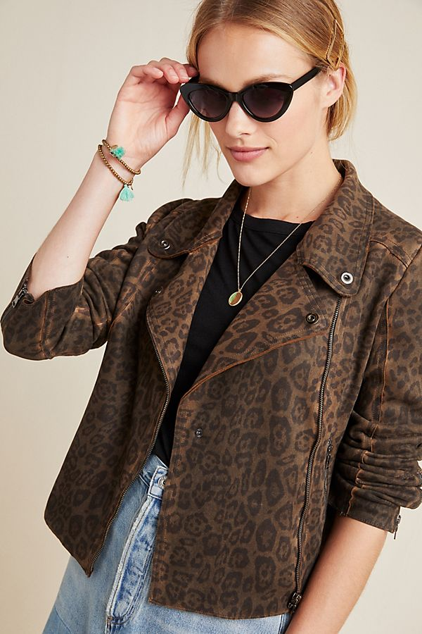 Slide View: 1: Marrakech Marni Leopard Moto Jacket