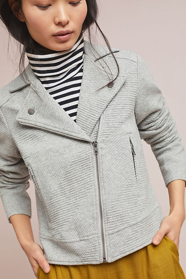 Slide View: 3: Freeway Textured Moto Jacket