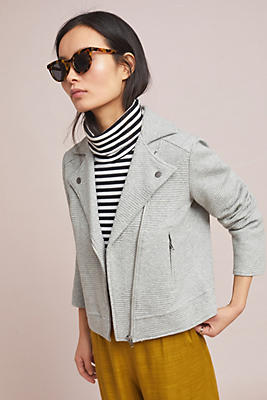 Freeway Textured Moto Jacket by Cupcakes And Cashmere