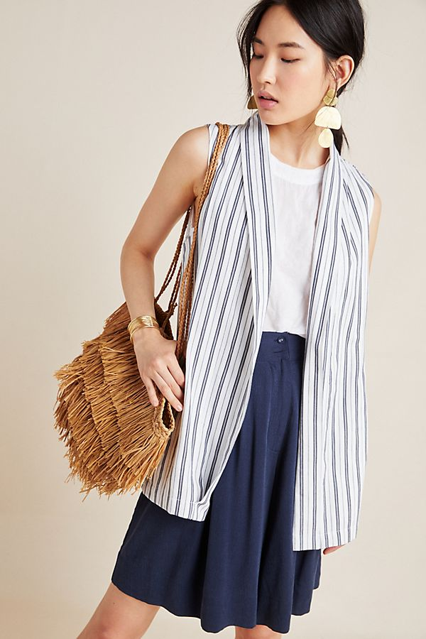 Slide View: 1: Eliza Striped Vest