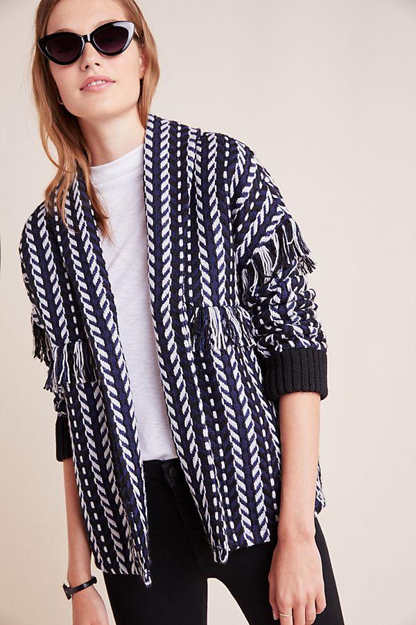 Slide View: 1: Angie Longline Tweed Jacket