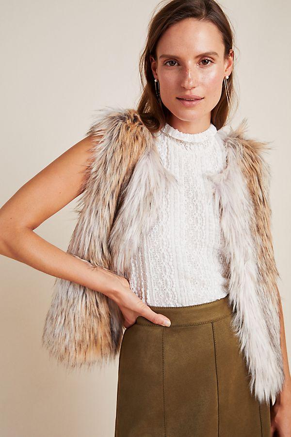 Slide View: 1: Josie Faux Fur Vest
