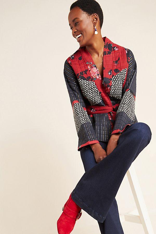 Slide View: 1: Ophelia Kimono Jacket