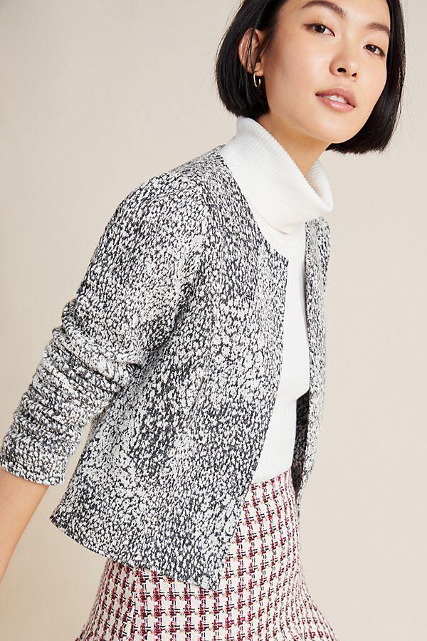 Slide View: 1: Eva Textured Knit Jacket