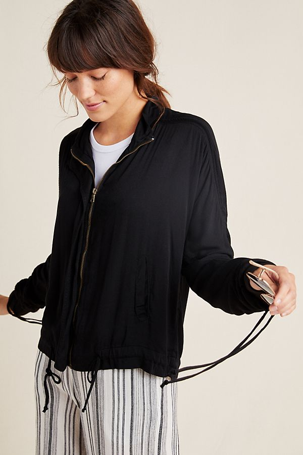 Jules Ruched Bomber Jacket by Laissez Faire