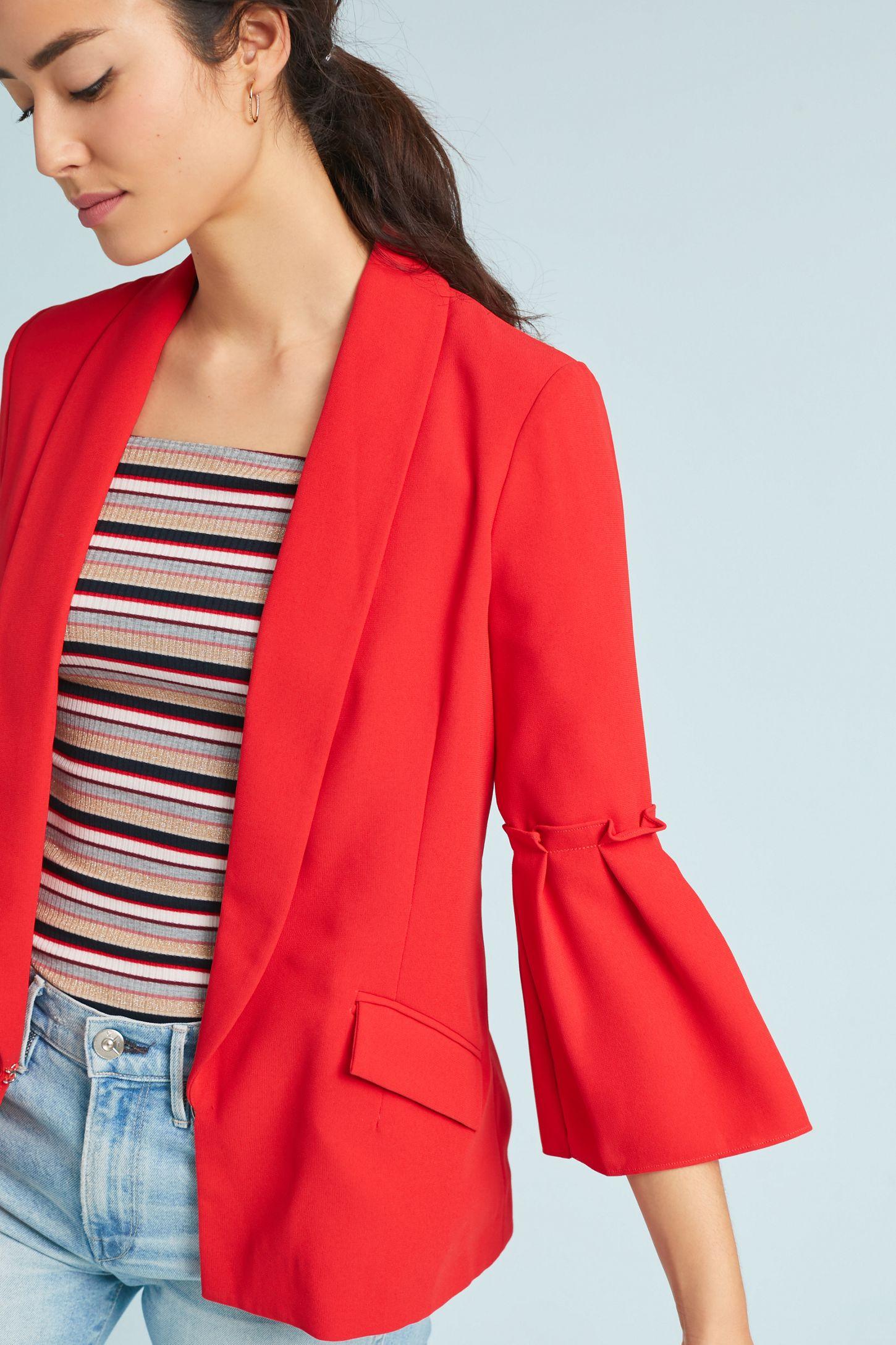3ed6746d432a Sharmila Bell-Sleeved Blazer   Anthropologie
